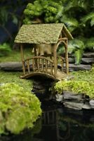 Fairy Garden Old Covered Bridge, Fairy Bridge, Mini Bridge, Dollhouse Bridge