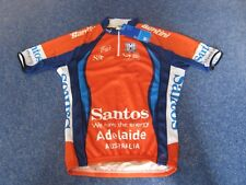 SANTOS TOUR DOWN UNDER SANTINI 2013 LEADERS ORANGE CYCLING JERSEY [S] BNWT