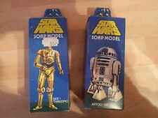 1977 Star Wars R2D2 C3PO Cliro Droid Soaps OOP