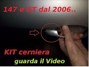 ALFA ROMEO 147eGT kit pezzo cerniera x maniglia (dal2006in avanti)