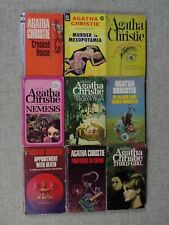 Agatha Christie VINTAGE Paperback Lot of (9) 60's & 70's
