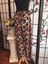 """Sleepwear"" Brand Women S (28-30) Skull Halloween Pajama Lounge Pants COMFY!"