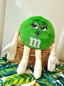 "RARE, BRAND NEW M&M's Ms.GREEN 18"" PLUSH/SOFT TOY M&M's World M&Ms Xmas Gift"