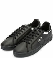 Fred Perry Sidespin Leather Men's Trainers Shoes B1180-102 - Black