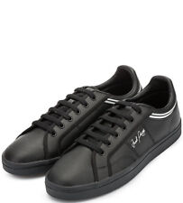 a7c7d9019da Fred Perry Sidespin Leather Men s Trainers Shoes B1180-102 - Black
