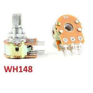 WH148 Linear Stereo Potentiometer B1K/2K/5K/10K/20K/50K/100K/500K 6-Pin