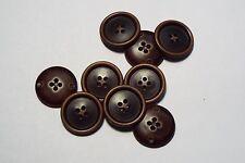 8pc 18mm marron foncé porté effet bois manteau pantalon cardigan kid bouton 2734
