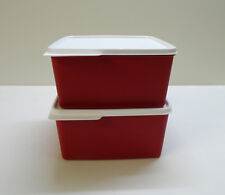 Tupperware 2x Réfrigérateur 2,5 L froid de coin, fraîcheur maître, rouge