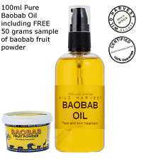 Pure unrefined Baobab Oil - 100ml - direct from baobab fruit harvesting company