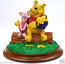 Disney figurine of 'Summer' Winnie the Pooh with piglet. Ornament 13.5cm tall