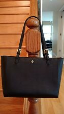 Tory Burch Large York Buckle Tote - Black  Saffiano Leather MSRP $295 Authentic