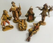 Lot Of 6 Fontanini Depose Italy Nativity Figurines marked, dated, some w/spider