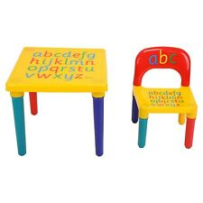 Plastic ABC Alphabet Table And Chair Set For Kids Children Toddlers Child Gift