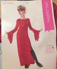 Girl's Costume Delightful Devil Dress Headpiece Red Small Theater Sz 4-6 New
