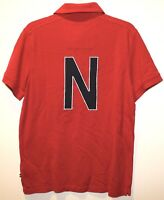 Nautica Mens Red NS-83 Chest Pocket Slim Fit Cotton Polo Shirt NWT $79 Size M