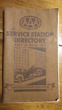 1930's OR 1940'S AAA SERVICE STATION DIRECTORY USA 2-3 Digit Phone #s