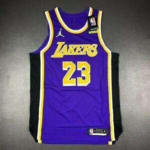 100% Authentic Lebron James Jordan 2020 Statement Lakers Jersey Size 48 L Mens