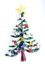 Muy bonito árbol de Navidad pendientes anillo broche múltiples diseños