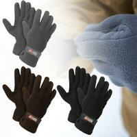 2 or 3 PACK Men's Fleece Lined Adjustable Warm Winter Gloves