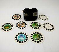 Vintage Bakelite Sawyers Black View Master Viewer 1950s W/ Look And See Reels