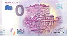 MDINA MALTA  - SOUVENIR BILJET 0 EURO, Malta - 2019/1-UNC(SB131)