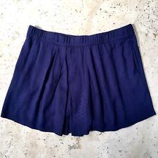 Garnet Hill Origami Skort Size Medium Blue Pockets Pleated