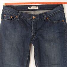 Señoras MUJERES Levis 524 SUPERLOW delgados elastizados Blue Jeans TOO W32 L 30 Talla 12