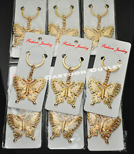 12 Quinceanera  Key Chains Gold Butterfly MIS XV ANOS Favors Recuerdos Mariposa