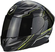 Casco Scorpion Exo-920 Satellite Black Metal-neon Yellow talla XL