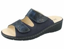 LONGO 1044742 Damen Pantolette 2xmarine/Leder