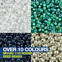 Miyuki Round Seed Beads 11/0 approx 2,400 beads. Choose from over 10 Colours