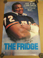 William Perry THE FRIDGE Chicago Bears poster PONTIAC car promo dealership