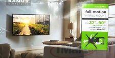 """SANUS Simplicity SLF9-B2 Full-Motion Tilt & Swivel TV Wall Mount 37""""- 90"""" Curved"""