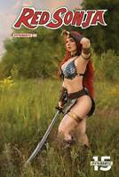 RED SONJA #3 COVER E COSPLAY DYNAMITE 1ST PRINT PHOTO