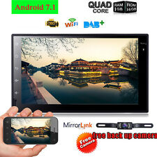 7'' Android 7.1 4G WiFi Double 2DIN Car Radio Stereo Multimedia GPS Navi BT+Cam