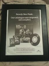 Bobby Womack The Poet Rare Printed Promo Ad Printed Once! Framed!