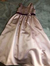 Girls Size 6 7 Flower Girl Party Pink/Plum Dress
