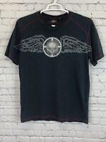 Harley Davidson Mens Short Sleeve Skull T Shirt Dark Gray Size Large