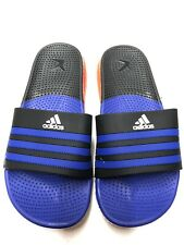 Mens Adidas Flip Flops Blue Slides Beach Pool Sandals Slippers Size 11(45eu)