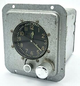 Vintage Soviet Cockpit Panel Clock 193 CHS USSR 1971 Aircraft Submarine Tank