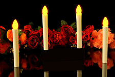 4 Flameless Festival LED Taper Candles - Event Lighting Battery Candles