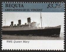 Rms Queen Mary Cunard Line océano del trazador de líneas/pasajero crucero Sello (Bequia)