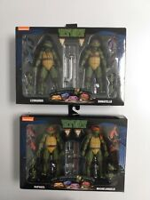 TMNT Movie 90'sTeenage Mutant Ninja Turtles Neca 2-Pack Bundle Leo Don Raph Mike