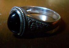 Jugendstil Silber 900er Saphir Ring 3,61ct Schliff: Cabochon