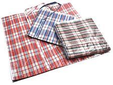 10 X LARGE STRIPE CHECKERED CARRY STORAGE BAG 4 MOVING PACKING Melbourne seller