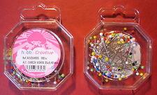 35mm x 0.40mm-100cnt VERY FINE  GLASS HEAD PIN DRESSMAKERS , DRESSMAKING ASST