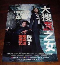 "Sammi Cheng ""Lady Cop & Papa Crook"" Eason Chan RARE HK 2008 ORIGINAL Poster B"