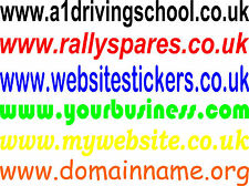 20 WEBSITE STICKERS CUSTOM ADVERTISING VINYL STICKER CAR VAN SHOP WINDOW 600mm
