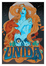 UNIDA (Kyuss, Slo Burn) Australia / NZ 2013 Ltd.Ed. Metallic Foil Print!