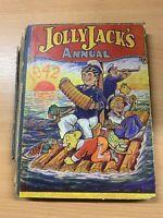 "1942 ""JOLLY JACK'S ANNUAL 1942"" CHILDRENS LARGE ILLUSTRATED HARDBACK BOOK"